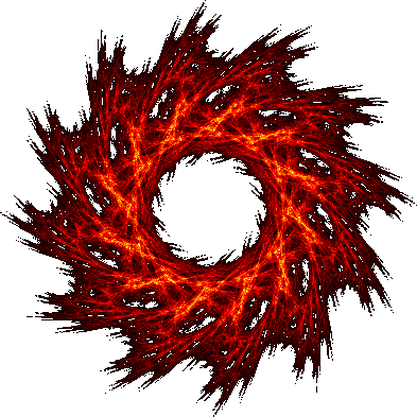 Soleil pyrotechnique flamme